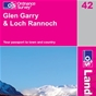 OS Landranger Map 42 Glen Garry & Loch Rannoch