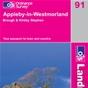 OS Landranger Map 91 Appleby-in-Westmorland