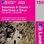 OS Landranger Map 159 Swansea & Gower