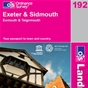 OS Landranger Map 192 Exeter & Sidmouth