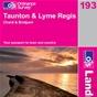 OS Landranger Map 193 Taunton & Lyme Regis