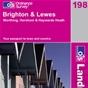 OS Landranger Map 198 Brighton & Lewes