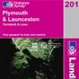 OS Landranger Map 201 Plymouth & Launceston