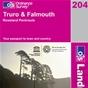 OS Landranger Map 204 Truro & Falmouth