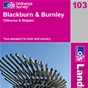 OS Landranger Map 103 Blackburn & Burnley