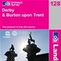 OS Landranger Map 128 Derby & Burton upon Trent