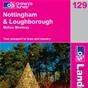 OS Landranger Map 129 Nottingham & Loughborough
