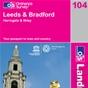 OS Landranger Map 104 Leeds & Bradford