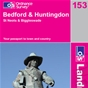 OS Landranger Map 153 Bedford & Huntingdon