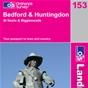 OS Landranger Map 153 Bedford & Huntingdon