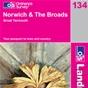 OS Landranger Map 134 Norwich & The Broads