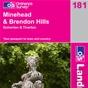 OS Landranger Map 181 Minehead & Brendon Hills