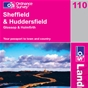 OS Landranger Map 110 Sheffield & Huddersfield