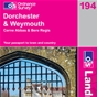 OS Landranger Map 194 Dorchester & Weymouth
