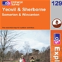 OS Explorer Map 129 Yeovil & Sherborne