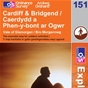 OS Explorer Map 151 Cardiff & Bridgend