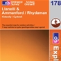 OS Explorer Map 178 Llanelli & Ammanford