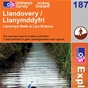 OS Explorer Map 187 Llandovery