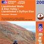 OS Explorer Map 200 Llandrindod Wells & Elan Valley