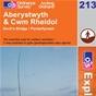 OS Explorer Map 213 Aberystwyth & Cwm Rheidol