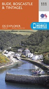 OS Explorer Map 111 Bude, Boscastle & Tintagel