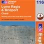 OS Explorer Map 116 Lyme Regis & Bridport