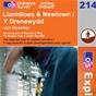 OS Explorer Map 214 Llanidloes & Newtown
