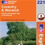 OS Explorer Map 221 Coventry & Warwick