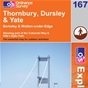 OS Explorer Map 167 Thornbury, Dursley & Yate