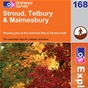 OS Explorer Map 168 Stroud, Tetbury & Malmesbury