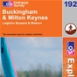 OS Explorer Map 192 Buckingham & Milton Keynes