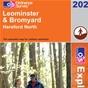 OS Explorer Map 202 Leominster & Bromyard