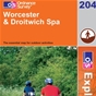 OS Explorer Map 204 Worcester & Droitwich Spa