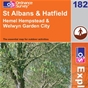 OS Explorer Map 182 St Albans & Hatfield