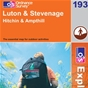 OS Explorer Map 193 Luton & Stevenage