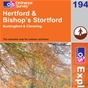 OS Explorer Map 194 Hertford & Bishop's Stortford