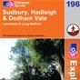 OS Explorer Map 196 Sudbury, Hadleigh & Dedham Vale