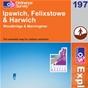 OS Explorer Map 197 Ipswich, Felixstowe & Harwich