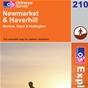 OS Explorer Map 210 Newmarket & Haverhill