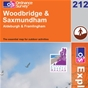 OS Explorer Map 212 Woodbridge & Saxmundham