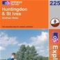 OS Explorer Map 225 Huntingdon & St Ives