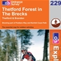 OS Explorer Map 229 Thetford Forest in The Brecks