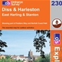 OS Explorer Map 230 Diss & Harleston