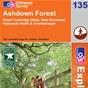 OS Explorer Map 135 Ashdown Forest