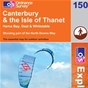OS Explorer Map 150 Canterbury & the Isle of Thanet