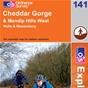OS Explorer Map 141 Cheddar Gorge & Mendip Hills West