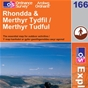 OS Explorer Map 166 Rhondda & Merthyr Tydfil