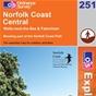 OS Explorer Map 251 Norfolk Coast Central