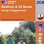 OS Explorer Map 208 Bedford & St Neots