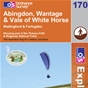 OS Explorer Map 170 Abingdon, Wantage & Vale of White Horse